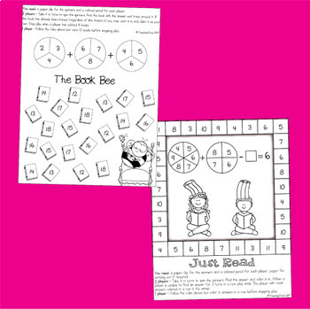 Addition and Subtraction Games for March FREEBIE