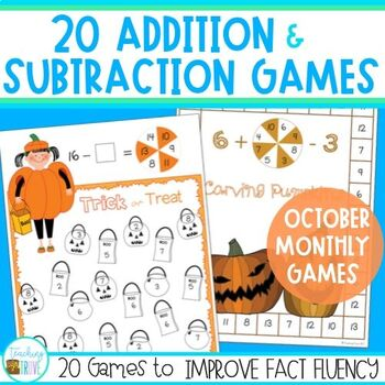 Addition and Subtraction Fact Fluency for October