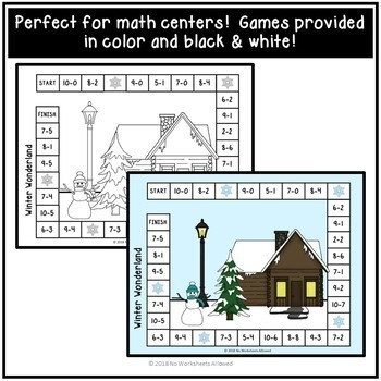 6 Winter Addition and Subtraction Games