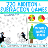 Addition and Subtraction Games Monthly Games Bundle