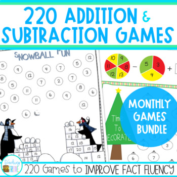 Number Fact Fluency with Addition and Subtraction Games