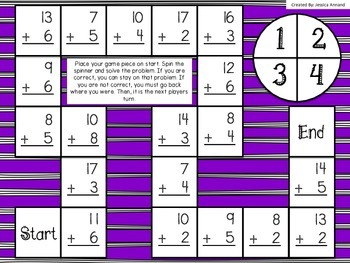 Addition and Subtraction Games within 20 No-Prep!!
