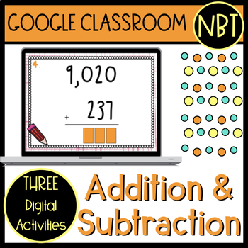 Addition and Subtraction Google Classroom Activities (self-checking)