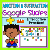 Addition and Subtraction Google Slides (Distance Learning)