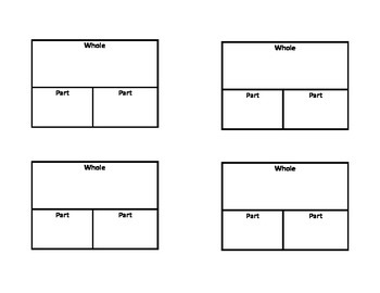 Addition and Subtraction Graphic Organizers