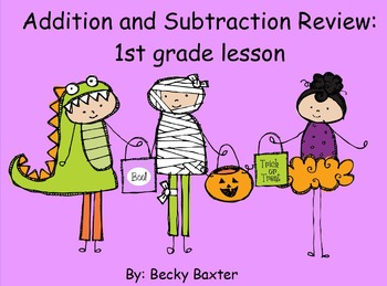 Addition and Subtraction Halloween Flipchart