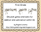 Addition and Subtraction Halloween Games for First Grade