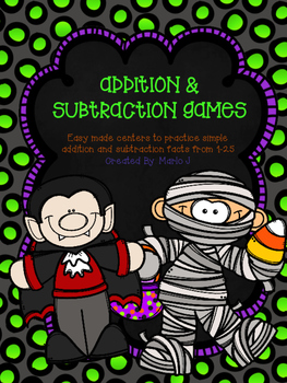 Addition and Subtraction Halloween Themed Game