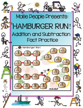 Addition and Subtraction!  Hamburger Run! A Self-Play Game