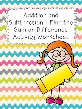 Addition and Subtraction Hands on Worksheet