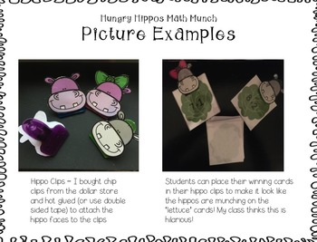 Addition and Subtraction Games and Activities {Happy Hippo theme}