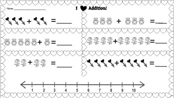 Addition and Subtraction Hearts