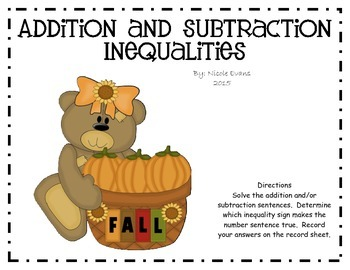 Addition and Subtraction Inequailties