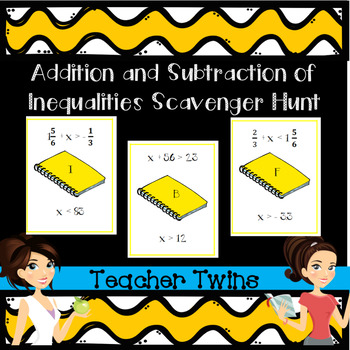 Addition and Subtraction Inequalities Scavenger Hunt