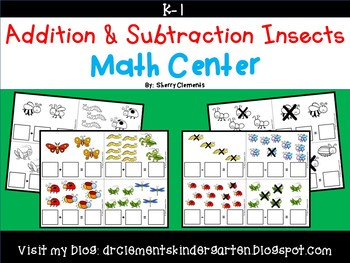 Addition and Subtraction Insects Math Center
