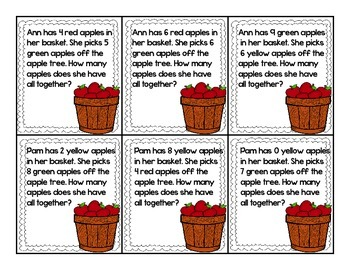 Addition and Subtraction Interactive Word Problem Center