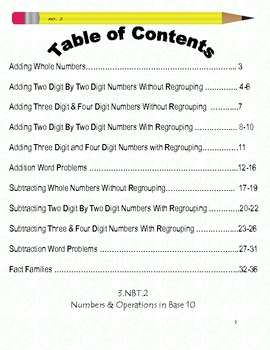 Addition and Subtraction Journal - Grade 3 Common Core Based