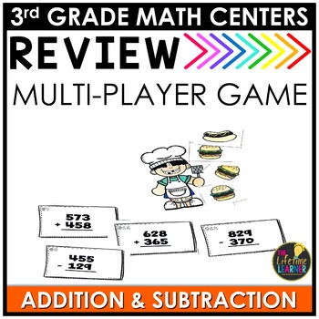 Addition and Subtraction July Math Center