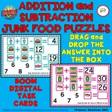 Addition and Subtraction Junk Food Puzzles BOOM Learning T