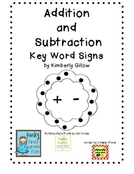 Addition and Subtraction Key Word Signs