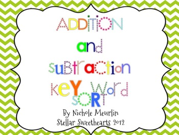 Addition and Subtraction Ke... by Stellar Sweethearts | Teachers ...