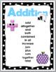 Math Key Words - Addition and Subtraction - Polka Dot Classroom Decor
