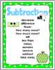 Math Key Words - Addition and Subtraction - Polka Dot Clas