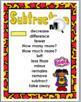 Addition Chart & Subtraction Chart - Math Key Words - Superhero Classroom Decor