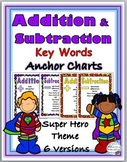 Addition Chart & Subtraction Chart - Math Key Words - Supe