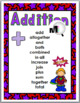 Addition Chart and Subtraction Chart - Math Key Word Poste