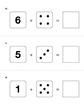 Addition and Subtraction Kindergarten Assessment