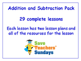 Addition and Subtraction Lessons Bundle / Pack (29 Lessons for 2nd to 4th grade)