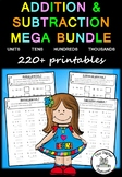 Addition and Subtraction MEGA Bundle – 220+ PRACTICE printables