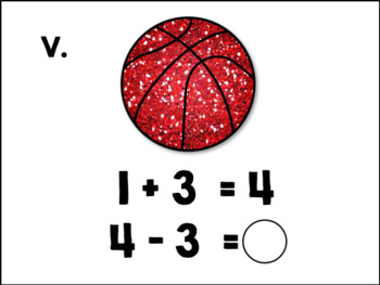 Addition and Subtraction - Basketball Themed - Scoot!
