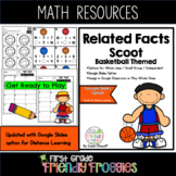 Addition and Subtraction - March Basketball Themed - Scoot!