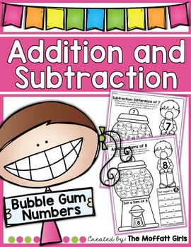 Addition and Subtraction Bubble Gum Numbers!