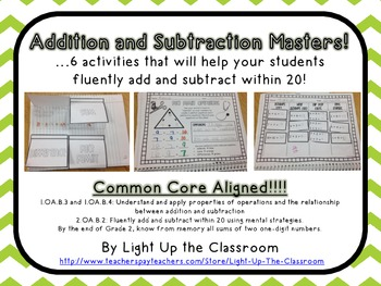 Addition and Subtraction Masters- CCSS Aligned!