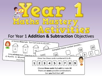Addition and Subtraction Mastery Activities – Year 1