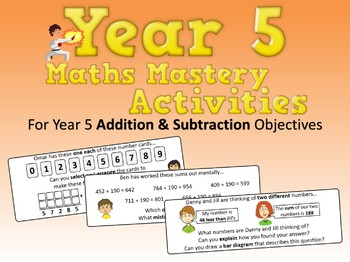 Addition and Subtraction Mastery Activities – Year 5