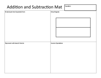 Addition and Subtraction Mat