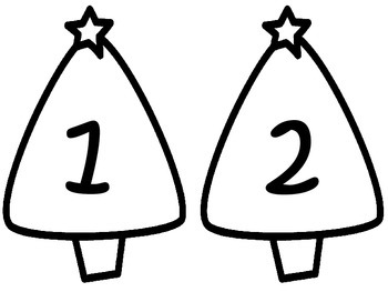Addition and Subtraction Match: Christmas Trees