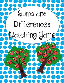 Addition and Subtraction Matching Game