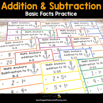 Addition and Subtraction | Math Facts | Math Fluency | Early Finishers