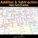 Addition and Subtraction Worksheets - Basic Facts