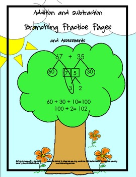 Addition and Subtraction Math Branching Practice Packet