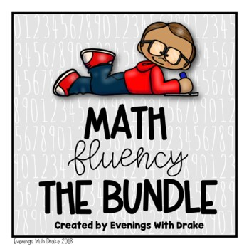 Math Fluency Bundle for 1st, 2nd, and 3rd Grades
