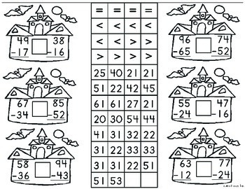 Math Center - Addition and Subtraction Activity up to 100 for up to 4 children.