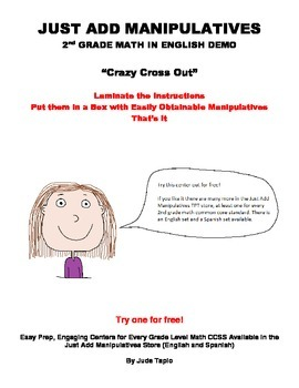 Addition and Subtraction Math Center - Crazy Cross Out