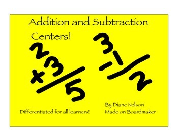 Addition and Subtraction Math Centers!