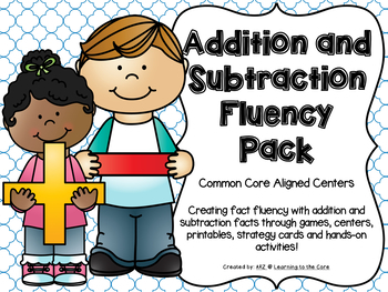 Addition and Subtraction Math Centers with Strategy Posters